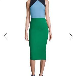 Diane von Furstenberg Sleeveless Colorblock Dress